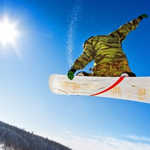 Snowboarder-jumping